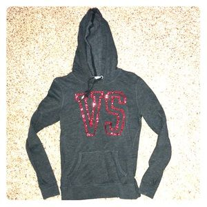 Gray with red sequin Victoria's Secret hoodie